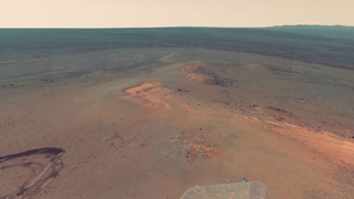 Mars Panorama #1 (Panoramic View from Mars Exploration Rover Opportunity) - 3D Panorama for .NET Framework for Silverlight